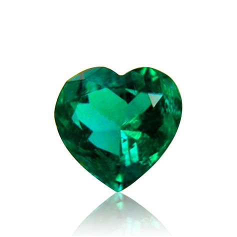carat green colombian emerald heart shape minor