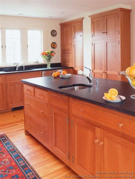 wood kitchen cabinets light cherry shaker kitchen