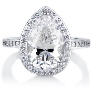 pear shaped halo engagement rings analisse 39 s cubic zirconia pear cut halo engagement ring