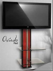 Fixation Murale Tv : meubles meuble tv casado vigo rouge casado vigo ~ Melissatoandfro.com Idées de Décoration