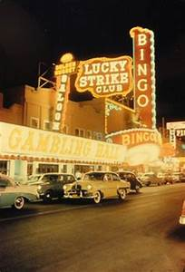 Old photograph of the Landmark Hotel and Casino in Las