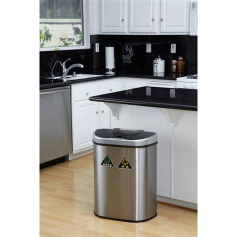 double trash can cabinet cabinet double trash can rev a shelf double roll gallon