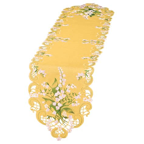 wedding bell flowers table linens yellow  collections