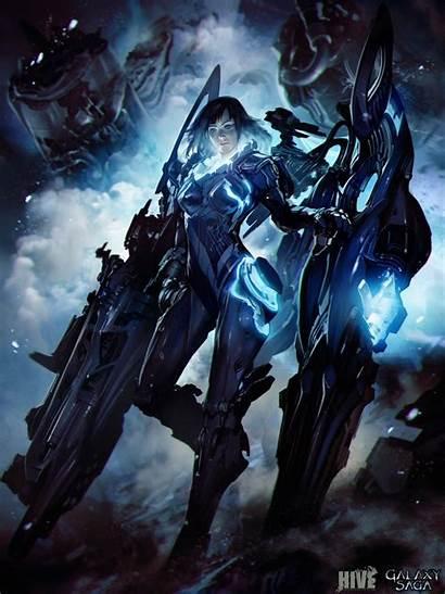Galaxy Saga Fiction Science Artwork Bodysuit Skan