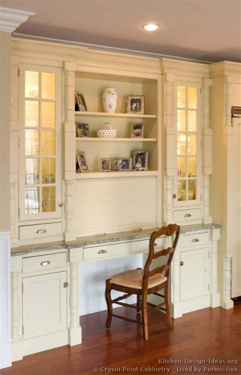 desk in kitchen design ideas pictures of kitchens traditional white antique
