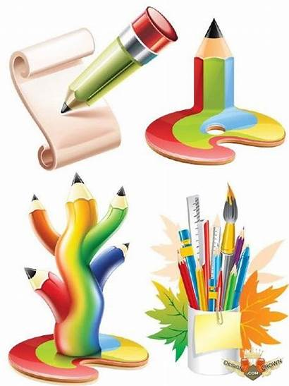 Stationery Clipart Stationary Cliparts Clip Pencils Creative