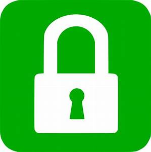 14 Green Lock Icon PNG Images - Security Icon, Green ...