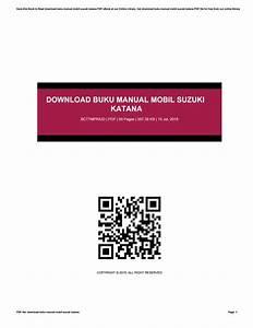 Download Buku Manual Mobil Suzuki Katana By