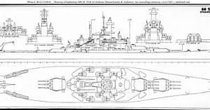 Navy Ship  Uss Alabama Battleship Blueprint