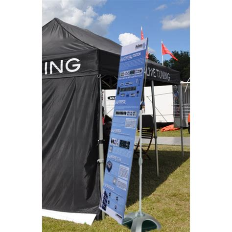 banner stand outdoor displays wind resistant weatherproof