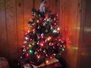 Christmas Tree Lights Blinking How To Stop Small Christmas Tree With Twinkling Lights Youtube