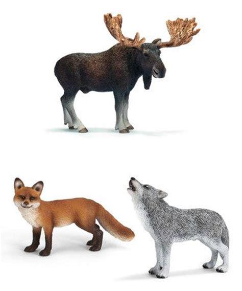 north american forest animal figurine set  schleich