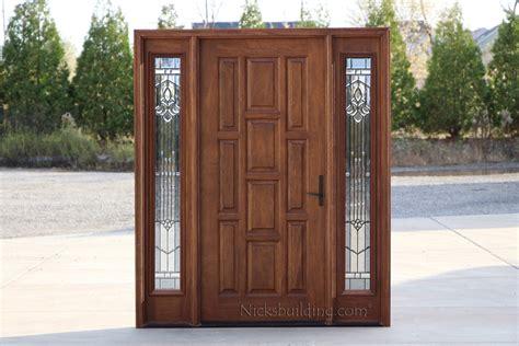 exterior doors  sidelights solid mahogany entry doors