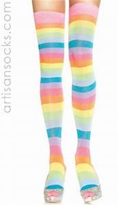 Leg Avenue y Neon Rainbow Thigh Highs