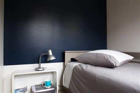 deco cuisine appartement tête de lit bleu nuit galerie photo peinture tollens