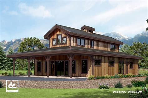Barn Style Home Floor Plans by Barn Home Kits Dc Structures