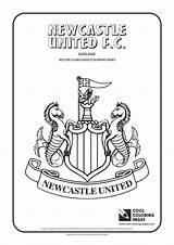 Newcastle Coloring United Cool Logos Soccer Clubs Printable Colouring Utd Fc Manchester Sheets Chivas Template Slender Getcolorings Templates sketch template