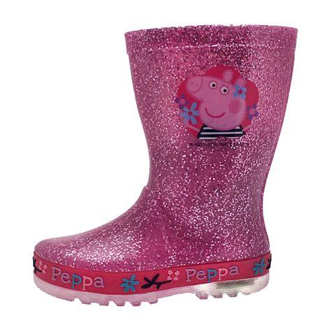 light up boots peppa pig light up wellington boots lights