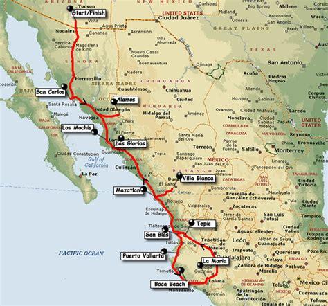 Carte Cote Ouest by West Coast Mexico Map