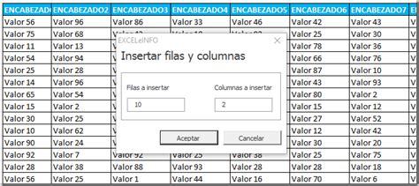 Blogs Exle Insertar N Cantidad De Filas Y Columnas Con Formulario Y