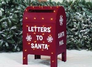deadline for letters to santa is dec 21 With letters to santa mailbox for sale
