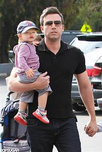 Ben Affleck held Samuel, who wore a Boston Red Sox ...