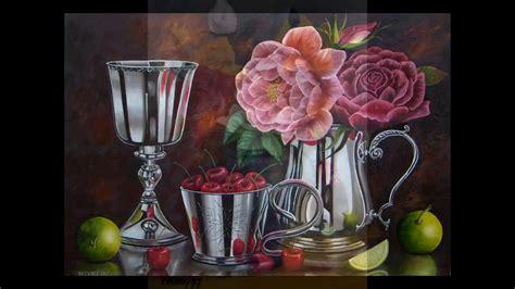 arte pinturas al oleo flores raphael puello