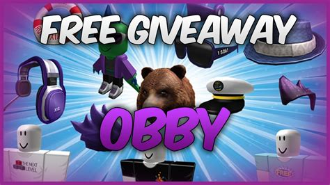 hats   prize giveaway obby roblox
