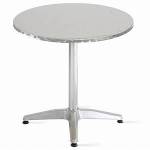 Table Ronde Pas Cher : table ronde aluminium pas cher mobeventpro table terrasse ~ Melissatoandfro.com Idées de Décoration