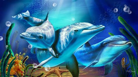 Animated Dolphin Wallpaper Free - free dolphin wallpapers for desktop wallpaper cave