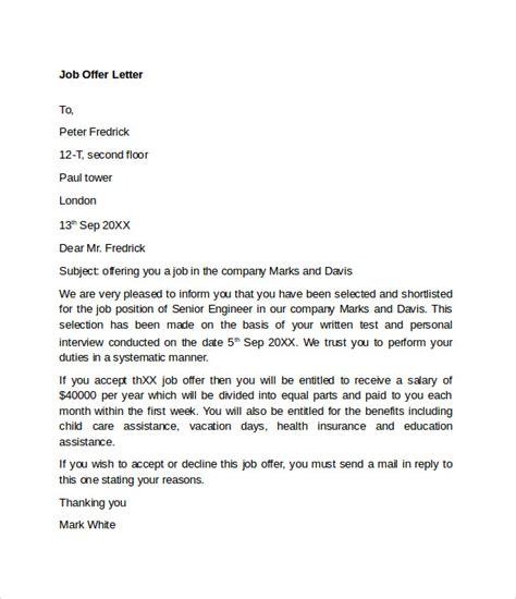 sle offer acceptance letter 9 download free offer letter sle template resume builder