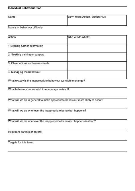 behavior plan template 10 best images of individual behavior chart template individual behavior plan template