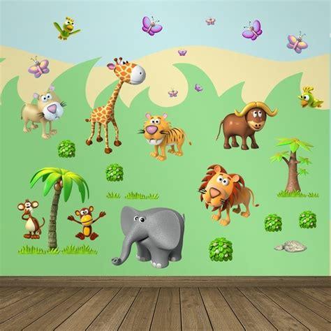 stickers animaux de la jungle sticker frise