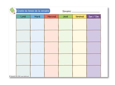 Ils vous feront gagner du temps à la. Emploi du temps de la semaine | Classroom management ...