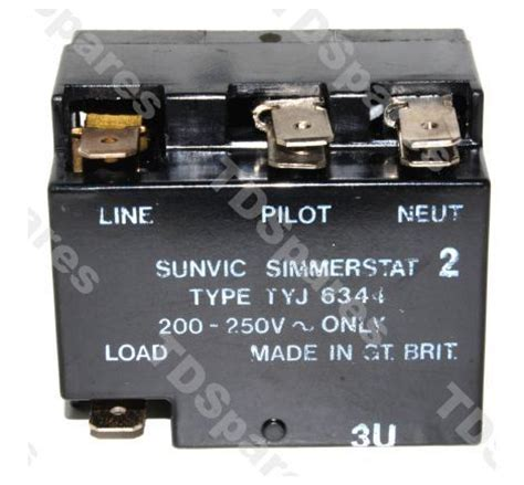 sunvic energy regulator simmerstat tyj 6344 shaft single circuit pilot light creda