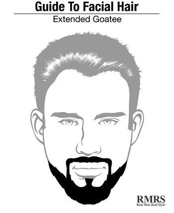 extended goatee  hollywoodian beard style