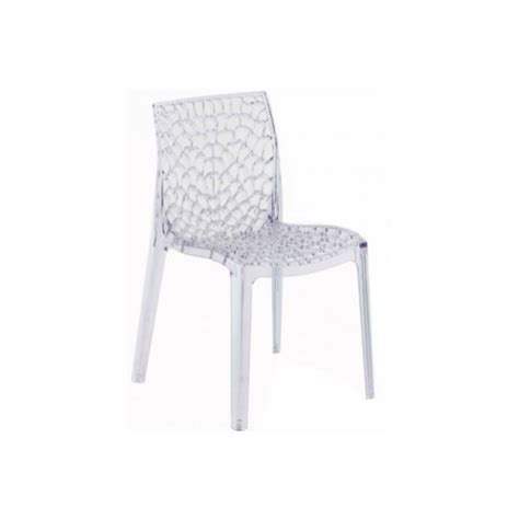 chaise gruyer lot de 2 chaises empilables gruvyer transparentes achat
