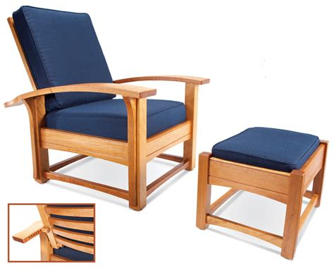 contemporary morris chair and ottoman popular