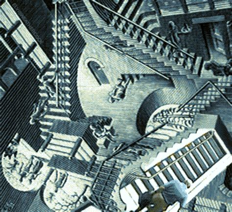 escaliers effet illusion optique homme chute image