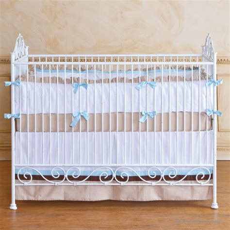 distressed white crib casablanca iron crib in distressed white by bratt decor