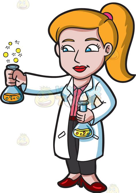 Scientist Clipart Clipart A Scientist Holding A Bubbly