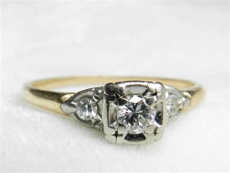 1930s wedding rings antique engagement ring diamond 14k platinum ring deco