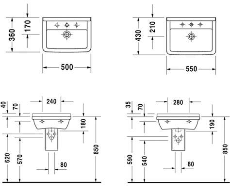 lavabo suspendu 50 224 65 cm c 233 ramique duravit starck