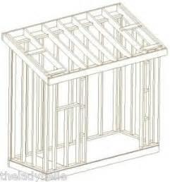 shed plans slanted roof sheds  buildings