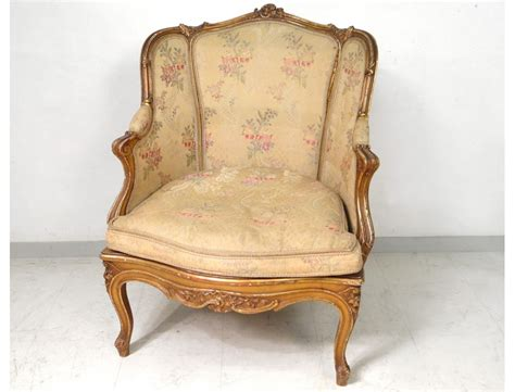 Bergère Louis Xv Armchair Carved Gilded Cane Napoleon Iii