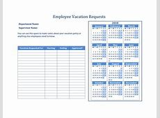 Free Vacation Request Forms With Calendar Calendar