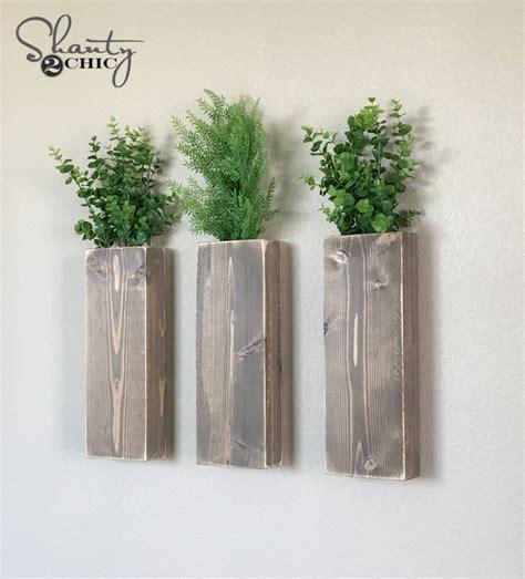 diy modern farmhouse wall planters shanty  chic
