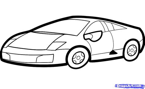 kid car drawing how to draw a lamborghini for kids step by step cars for