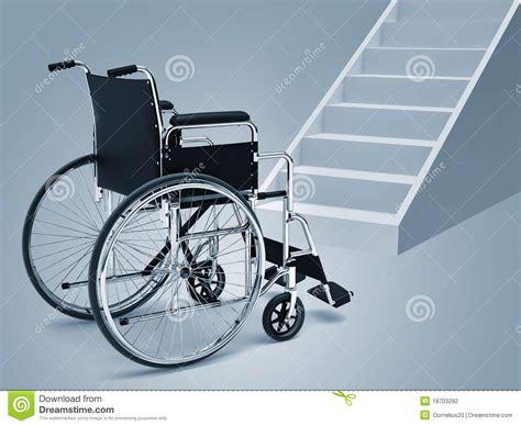 fauteuil roulant et escaliers photographie stock image 18703292