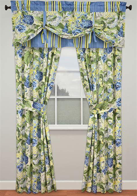 floral flourish lined panels ellery waverly valance